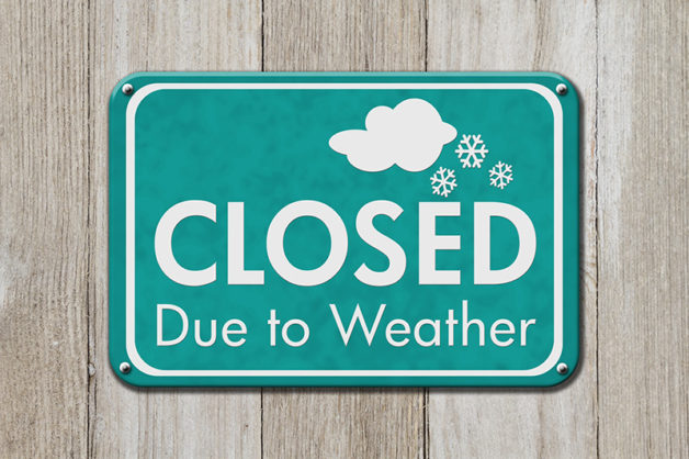 Closed due to weather